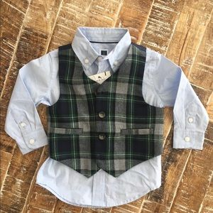 Button down shirt and vest selling together